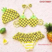 Đầm bơi hình quả thơm nhập khẩu cực đẹp cho bé từ 1-8 Tuổi_CVG17850Y