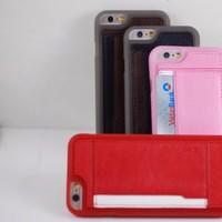 Ốp silicon lưng da CardHolder iphone4,4s, 5,5s, 6,6s