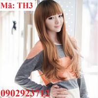 Tóc giả nữ Hàn Quốc - Tặng Lưới - TH3