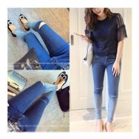 quần jeans skinny rách gối Mã: QD912