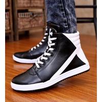 giày thể thao cổ cao chữ thập Mã: GH0187 - ĐEN