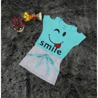 Đầm khoét vai mặt cười Smile