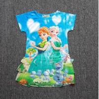 Đầm công chúa Elsa màu xanh CC079