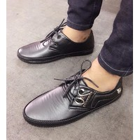 Giày nam oxford khoen kim loại