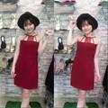 SHOP CÚN-SALE-ĐẦM SUÔNG ÔM CỔ YẾM REN XINH XẮN-J79066