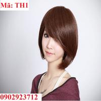 Tóc giả nữ Hàn Quốc - Tặng Lưới - TH1