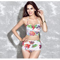 Bộ Bikini 2 mảnh cạp cao họa tiết - nhập Hong Kong BH832-1503