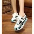 giày sneaker nữ rằn ri Mã: GT0060 - XANH