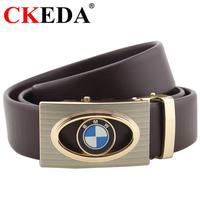 Thắt lưng da bò logo BMW dây Đen và Nâu
