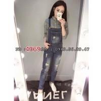Quần yếm jean kiểu - 4069