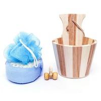 Bộ dụng cụ tắm thùng gỗ lớn