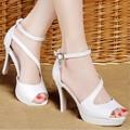 Giày cao gót phối chuông đá thời trang - LN213