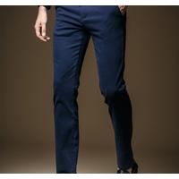 Quần kaki nam màu xanh đen form body cực chuẩn cho nam