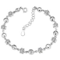 Lắc tay bạc đính kim cương S015