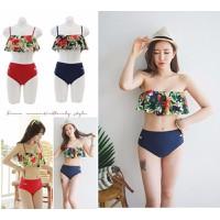 Bikini nữ thiết kế in họa tiết phối màu hoa nổi bật, nữ tính-DB040