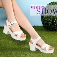 Giày Sandal nữ đế cao dễ thương phong cách Hàn Quốc - SG0161