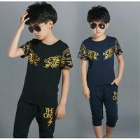 Bộ áo và quần cotton cho bé trai từ 3-16 tuổi V291