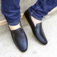 Giày lười da trơn lacoste mềm mại,phong cách hàn quốc -  DT1