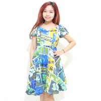Đầm xòe họa tiết xinh