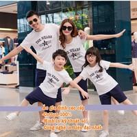 Sét áo gia đình màu trắng tinh khôi và năng động HGS 193
