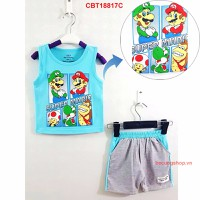 Bộ sát nách Super Mario cực yêu cho bé từ 1-8 tuổi_CBT18817