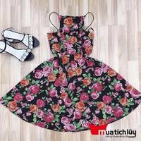 MTL - Đầm yếm hoa