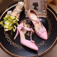 Giày cao gót phối nơ xinh xắn Vaha - LN178