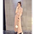 Set Chân Váy Áo Tay Liền Bo Eo