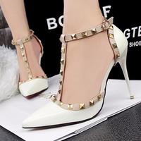 Giày cao gót LouBouTin đinh tán cao cấp - LN265
