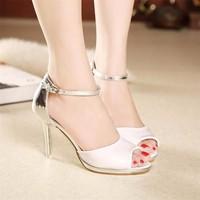 Giày da cao gót cao cấp Mina - LN263