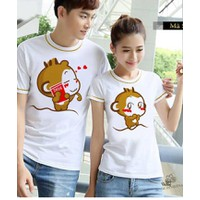 Combo 2 áo thun cặp in hình siêu cute 1232