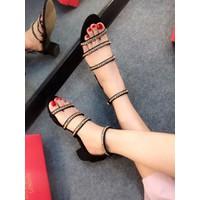 HÀNG LOẠI I - Giày sandal cao gót đế vuông