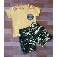Bộ áo thun cotton, quần kaki thun Subi 101