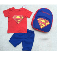Bộ thun Superman kèm ba lô dễ thương cho bé NX417D