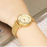 Đồng hồ nữ vành khuyên dây mịn mèo964