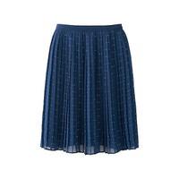 Chân váy Chiffon xếp ly dáng ngắn màu 67 Blue hãng Uniqlo Nhật