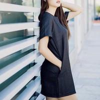 Đầm suông carô công sở