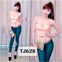 Set nguyên bộ quần dài áo ren cúp ngực 2 dây kèm belt TJ628