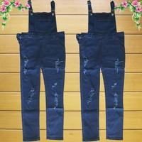 Quần Yếm Jeans Dài Rách
