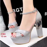 giày cao gót chất da cao 12 cm - c383