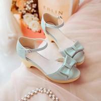 Giày cao gót đế đúc nơ xinh - LN256