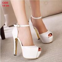 giày cao gót 14 cm chất da sang trọng - c430