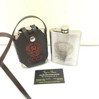 Bình Đựng Rượu Inox CCCP truyền thống 08oz 250ml