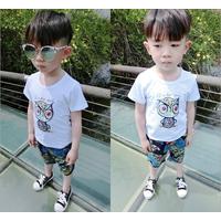 Bộ quần áo hình cú bé trai cao cấp hàng nhập VX531 - 1 đến 5 tuổi