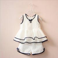Bộ áo và quần ren cho bé gái - VX510
