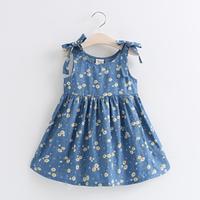 Đầm cotton cao cấp cho bé gái 1 đến 5 tuổi - VX582 hình thật