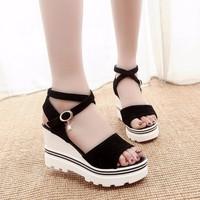 Giày Sandal nữ đế xuồng dễ thương kiểu dáng Hàn Quốc - SG0286