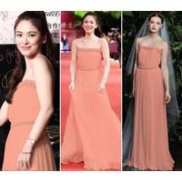Đầm Dạ Hội Cúp Viền Ren Đẹp Như Song Hye Kyo