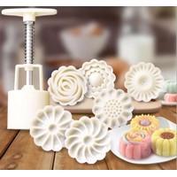 Khuôn bánh trung thu 3D 50g 6 mặt hoa đẹp