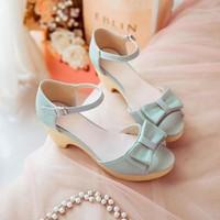 Giày cao gót đế đúc nơ xinh